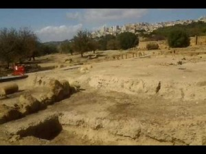escavation at the Roman Forum in Agrigento