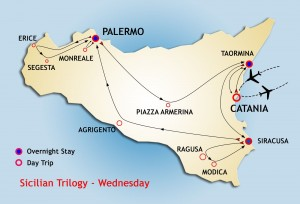 Sicilian Trilogy Tour starts Wednesday from Taormina