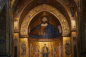 Monreale-Cathedral-interior-with-gold-mosaics
