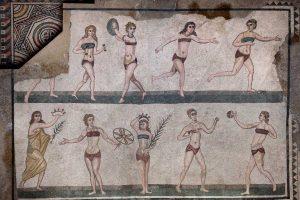 Villa-Romana-del-Casale-the-mosaics-of-Bikini-room