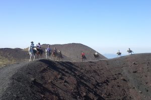 Etna Craters on Horseback